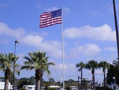 American flag at our dealership
