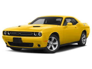 Angled view of the Dodge Challenger