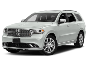 Angled view of the Dodge Durango