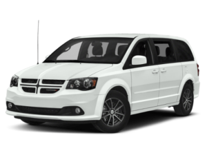 Angled view of the Dodge Grand Caravan
