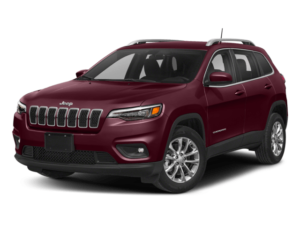 Angled view of the Jeep Cherokee