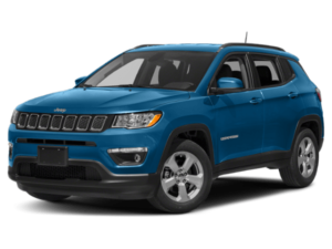 Angled view of the Jeep Compass