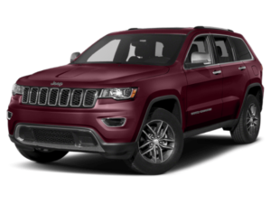 Angled view of the Jeep Grand Cherokee