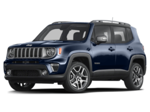 Angled view of the Jeep Renegade