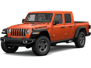 Angled view of the Jeep Gladiator