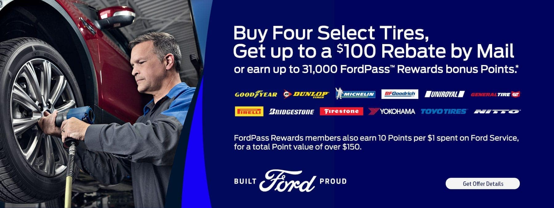 Buy 4 Select Tires for $100 Rebate by Mail