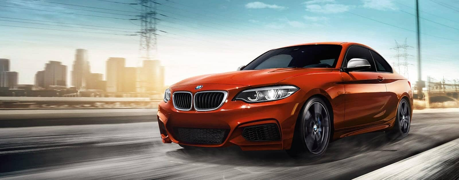 Red BMW 2 series