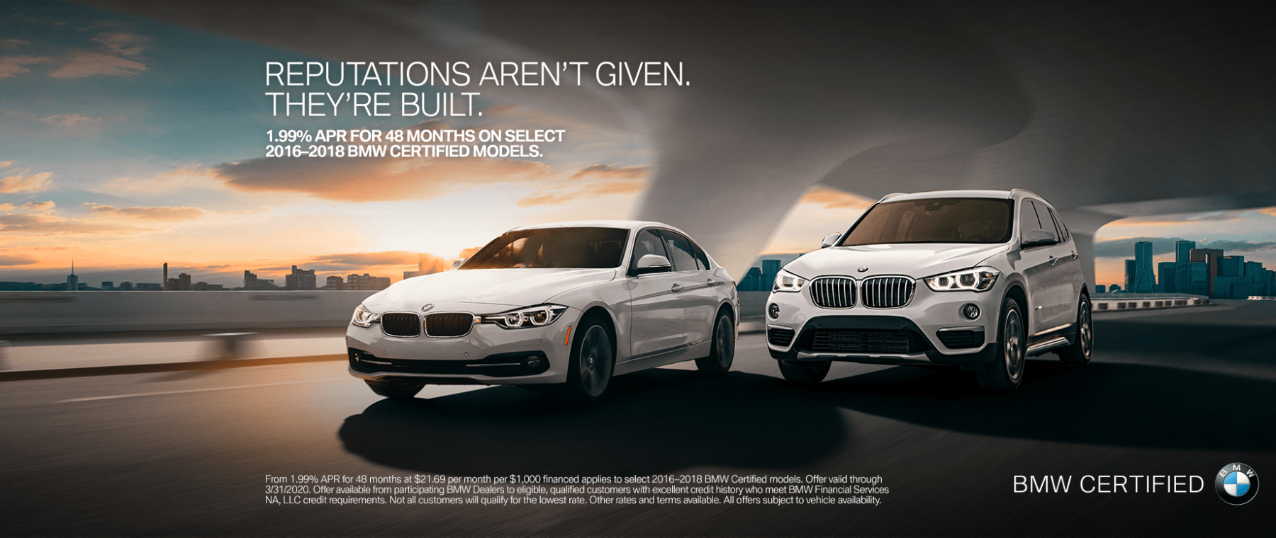 banner of BMW CPO