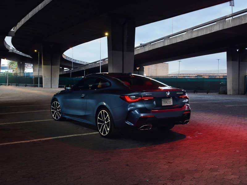 Back angled view of 4 Series Coupe
