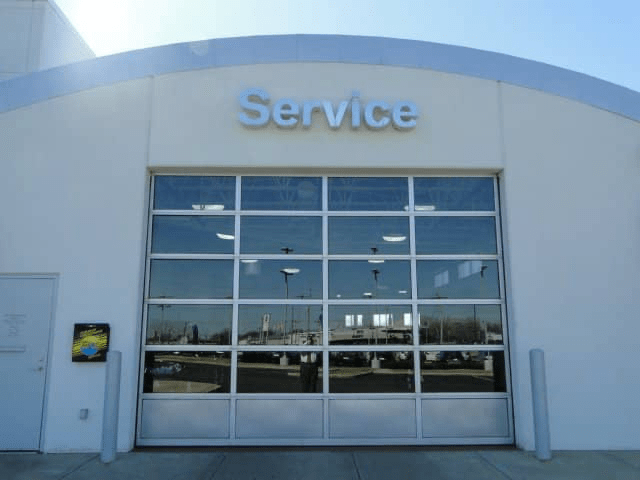 Service doors at the dealership