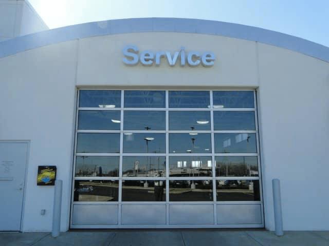 Service doors at the dealership