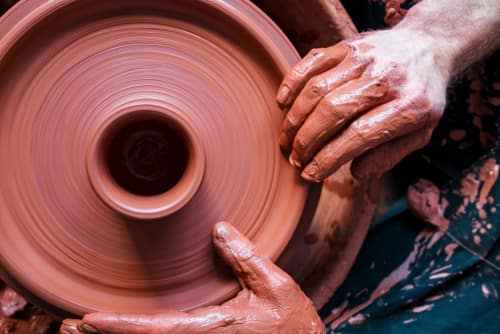 creating pottery