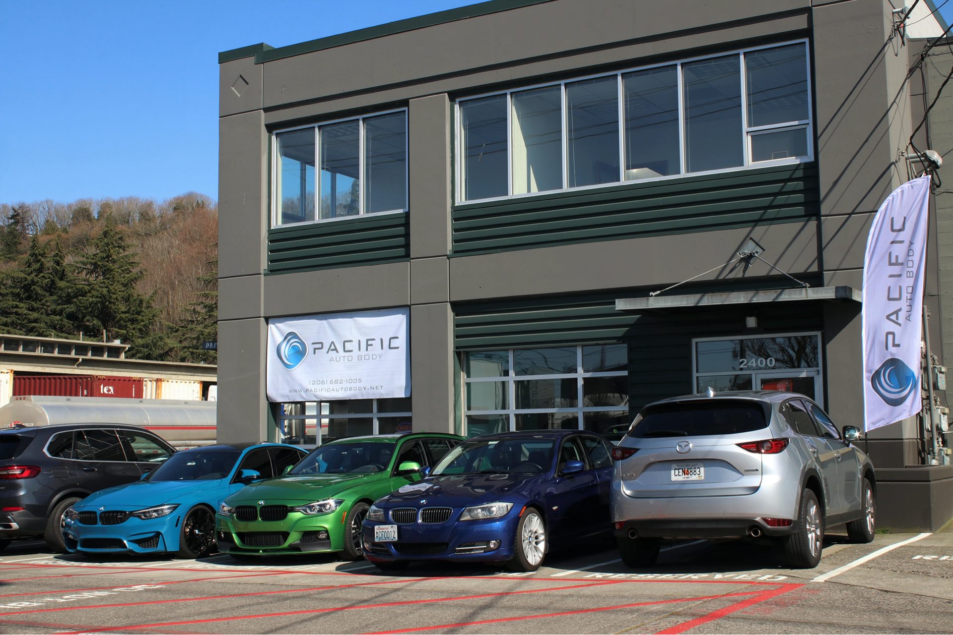 exterior view of Pacific auto body