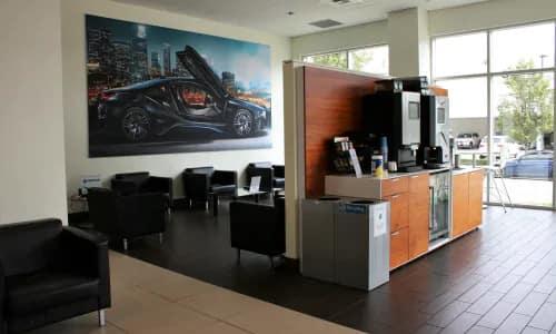Service center waiting area