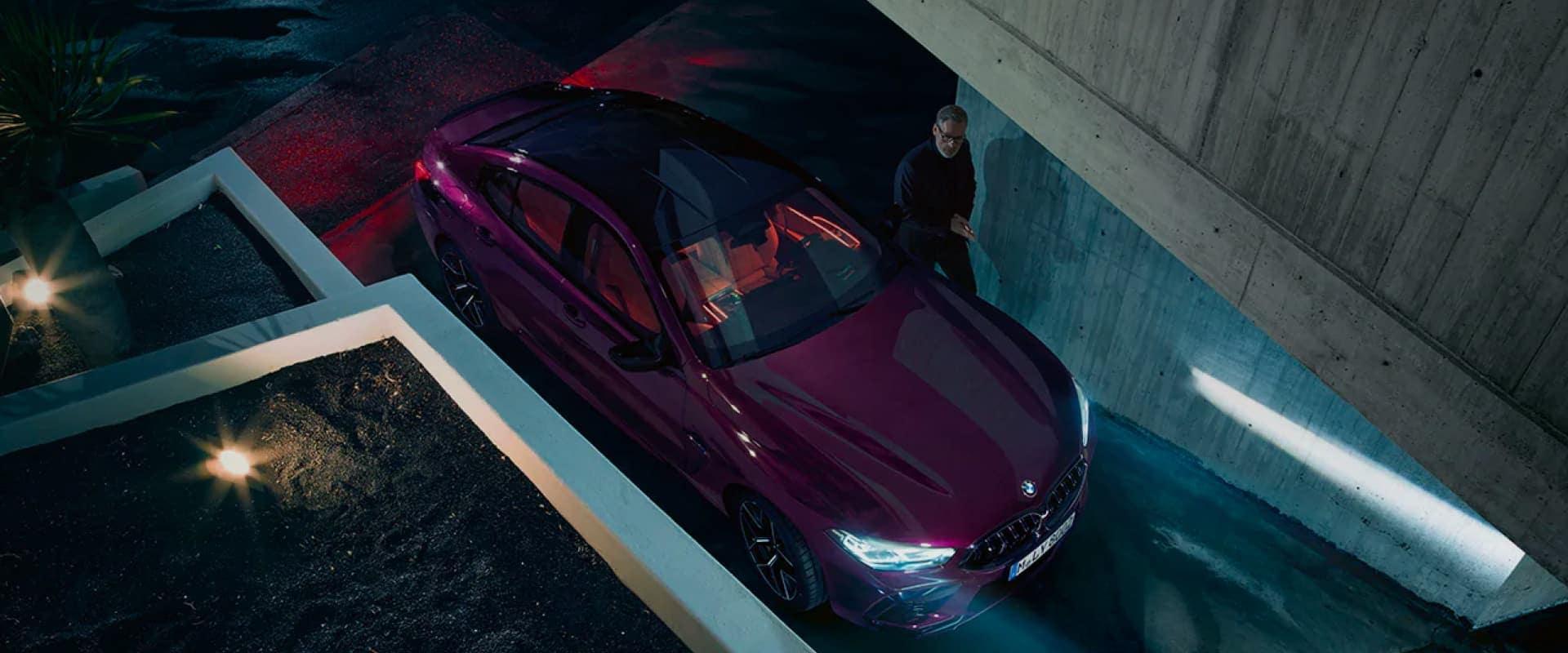 Man with BMW in drivethrough