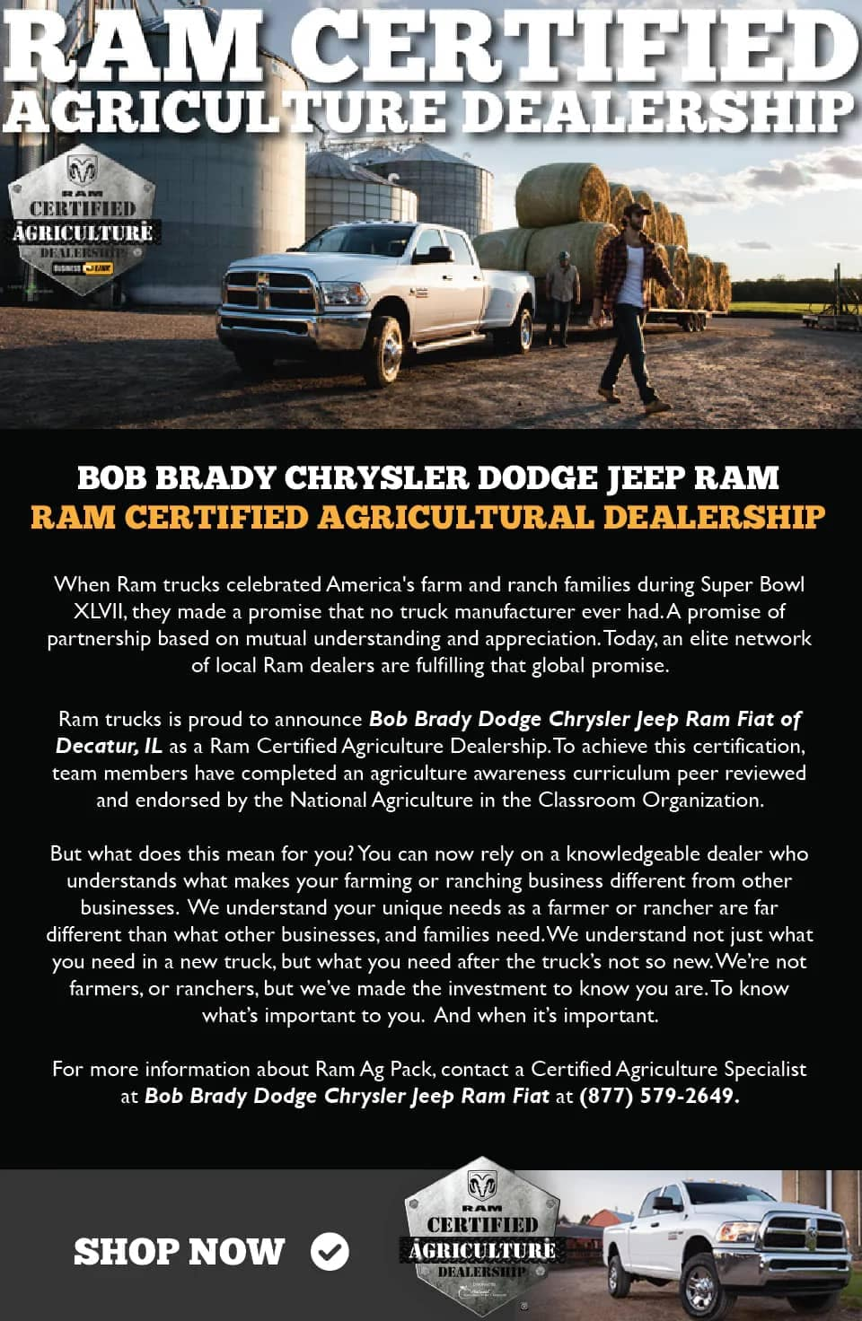 Banner Ram Certified Agriculture Program