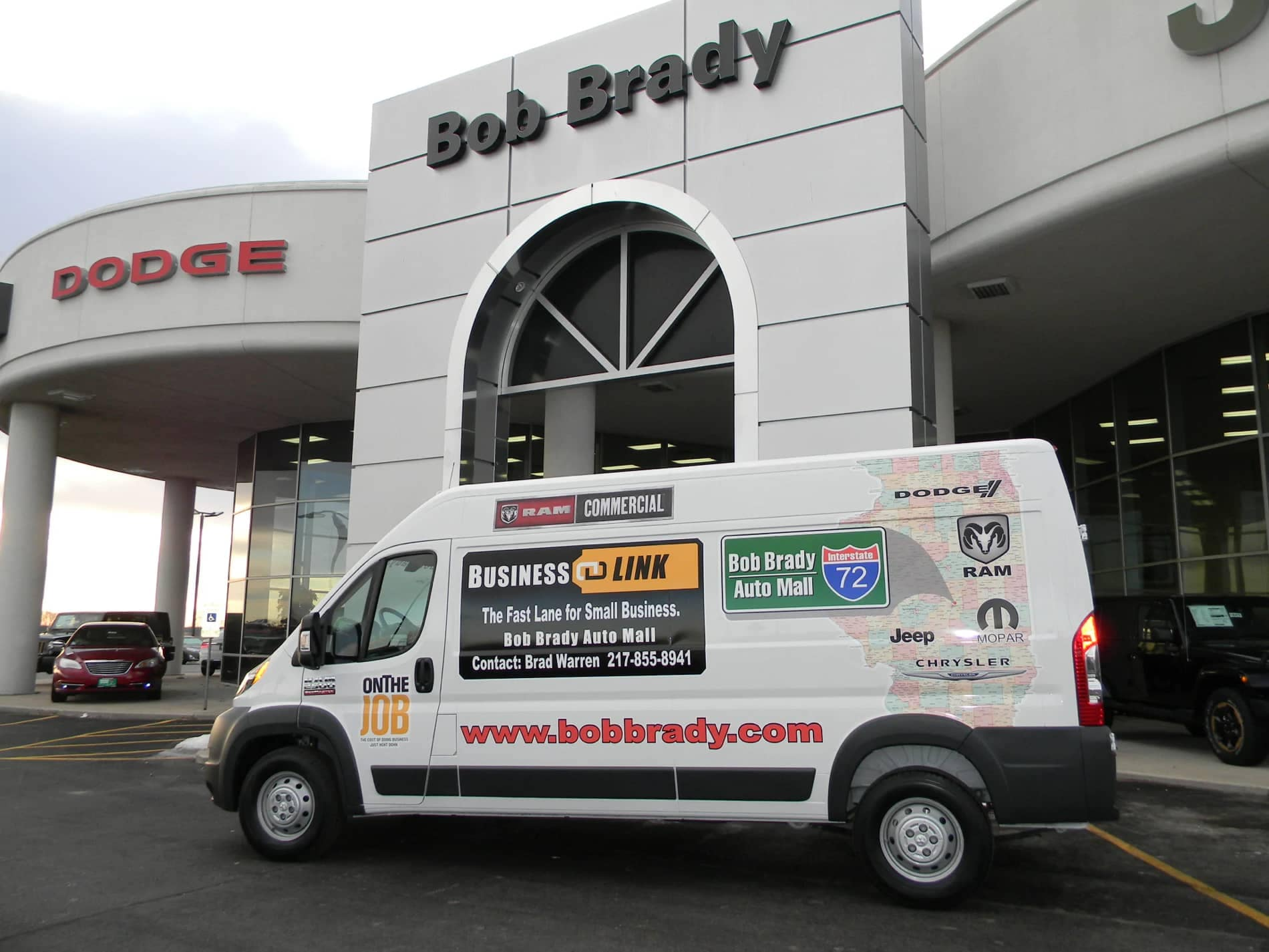 Bob Brady Van with Business Link Banner on Side
