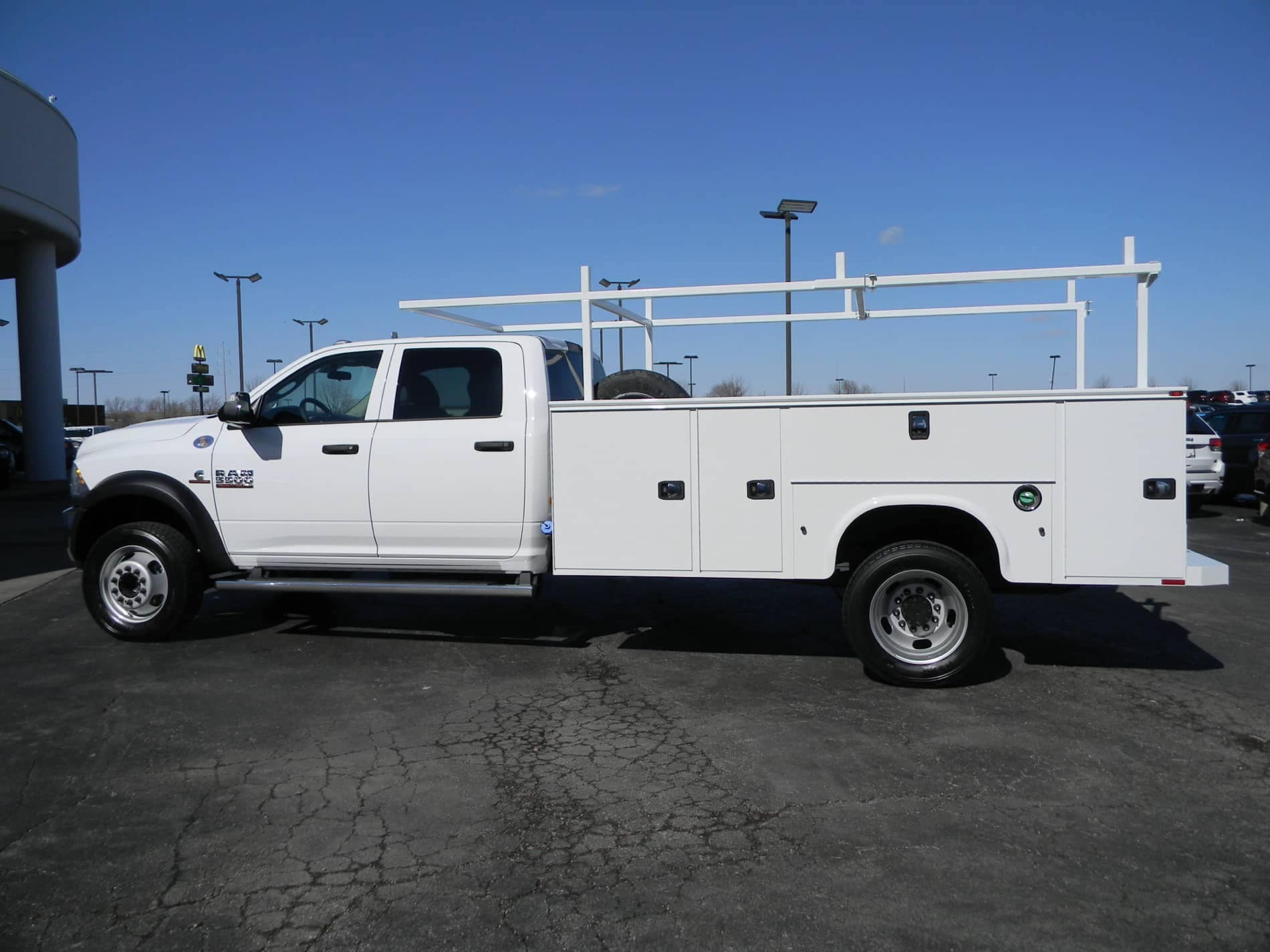 Truck at angle with upfit back