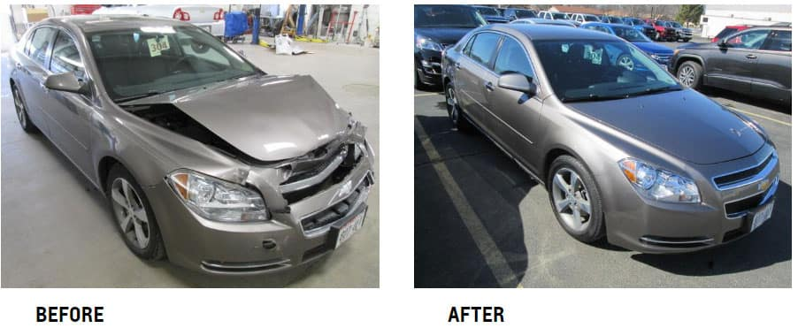 Vehicle one before and after