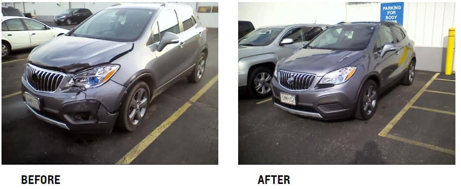 second vehicle before and after