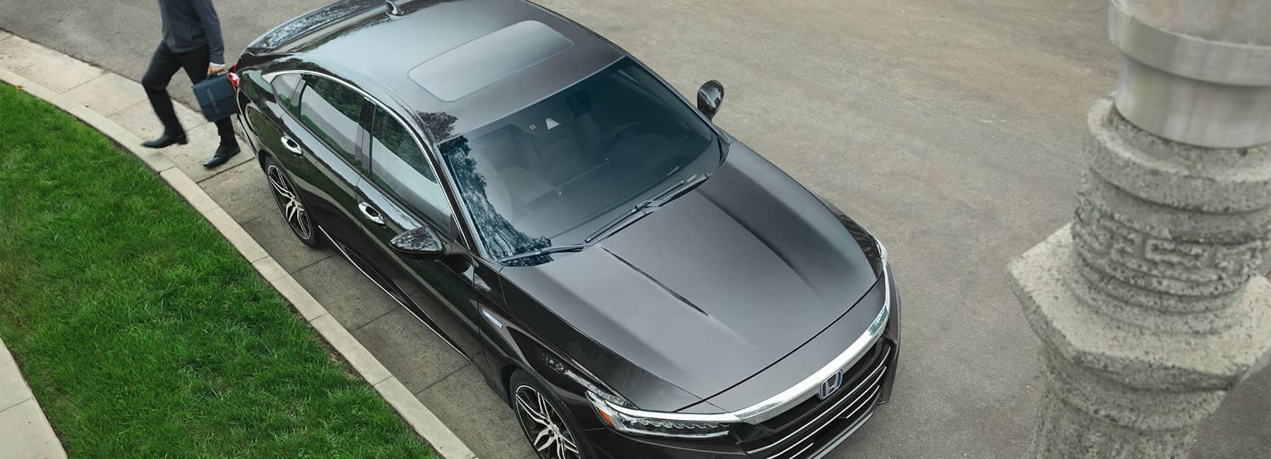 Top View of a 2021 Black Honda Accord