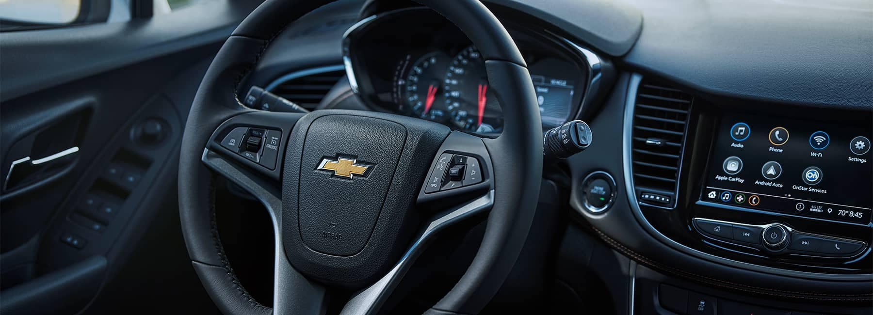 Interior dashboard of a 2021 Chevrolet Trax