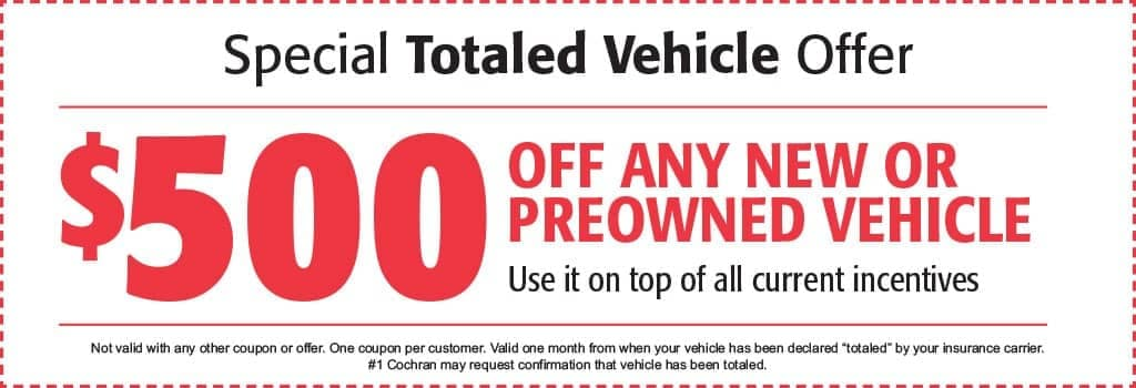 Totaled Vehicle Coupon