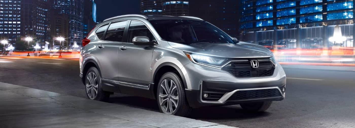 2020 Honda CR-V Parked on City Street at Night