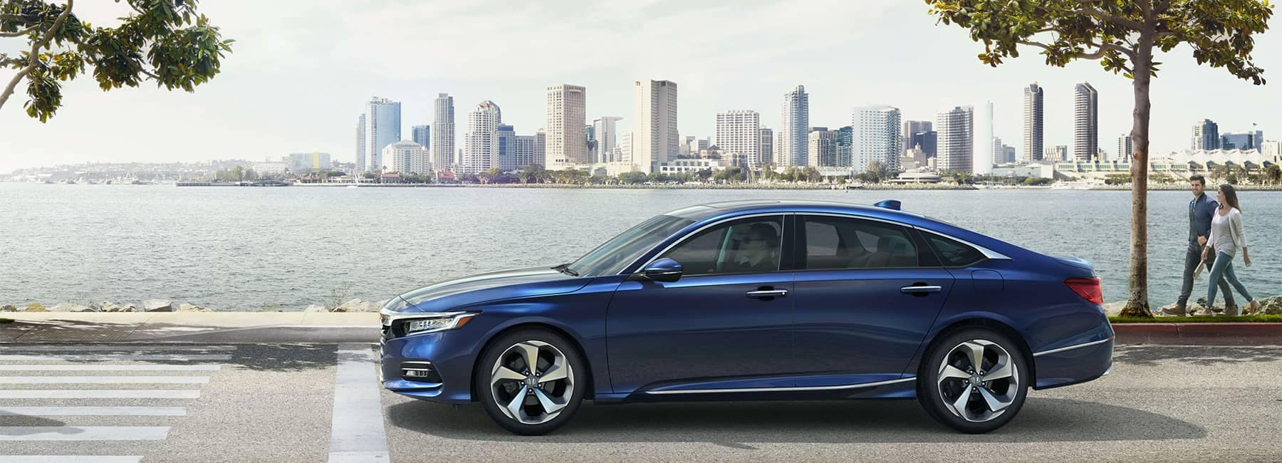 Honda Accord Side View next to body of water