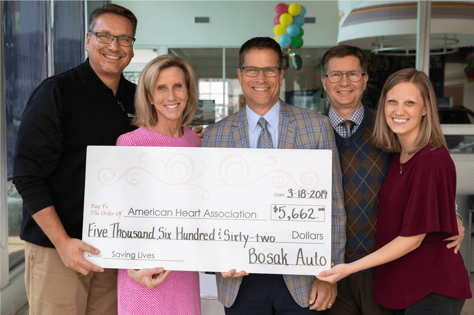 Giving Back Image with Giant Check