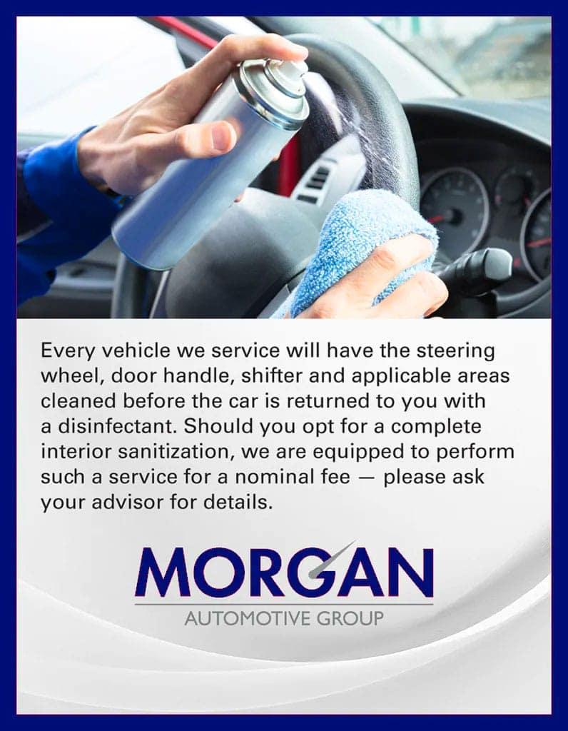 Morgan Auto Covid-19 message