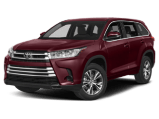 Angled view of the Toyota Highlander