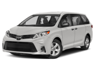 Angled view of the Toyota Sienna