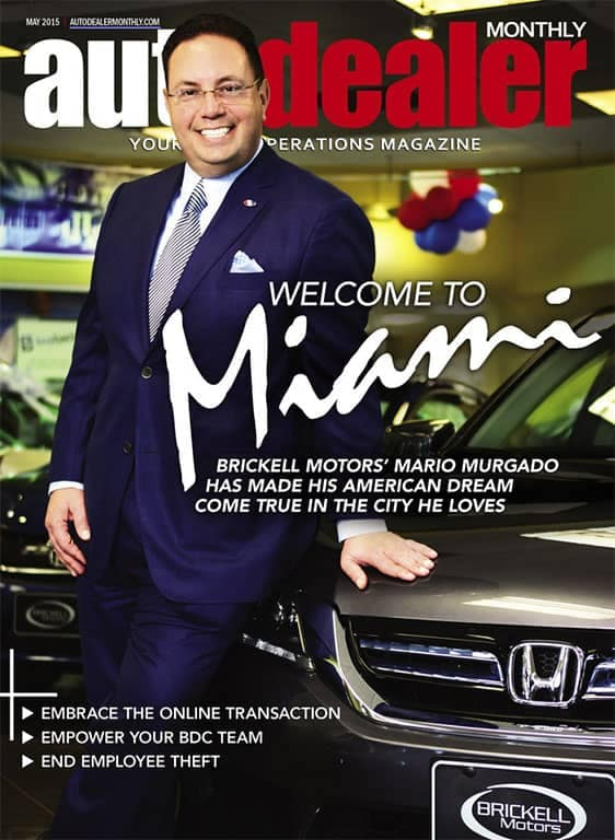 Mario Murgado on cover of Auto Dealer