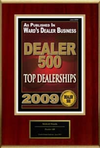 Top Dealerships in 2009