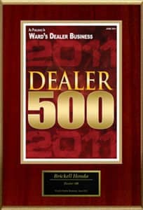 Dealer 500 award for 2011