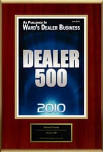 Dealer 500 award
