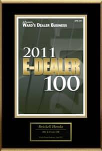 2011 E-Dealer 100 award