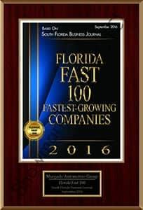 Florida Fast 100 Companies award
