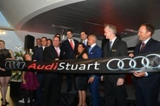 cutting ribbon of Audi Stuart