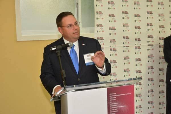 Mario Murcado giving speech