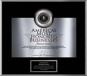 America's Most Honored Businesses award