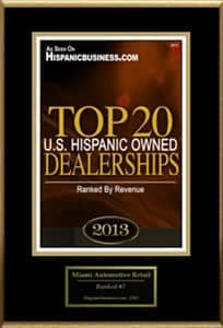 Top 20 US Hispanic Owned Dealerships