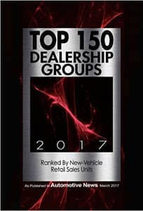 Top 150 Dealership Groups 2017 award