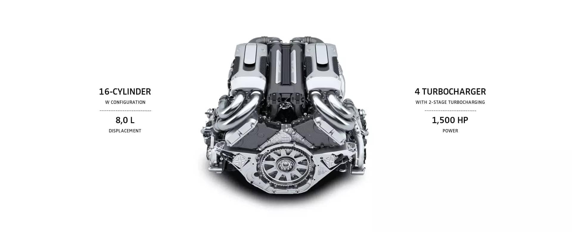 Bugatii Chiron Engine