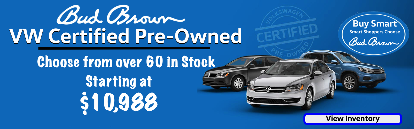 Bud Brown is KC's #1 Certified Pre-Owned VW Dealer