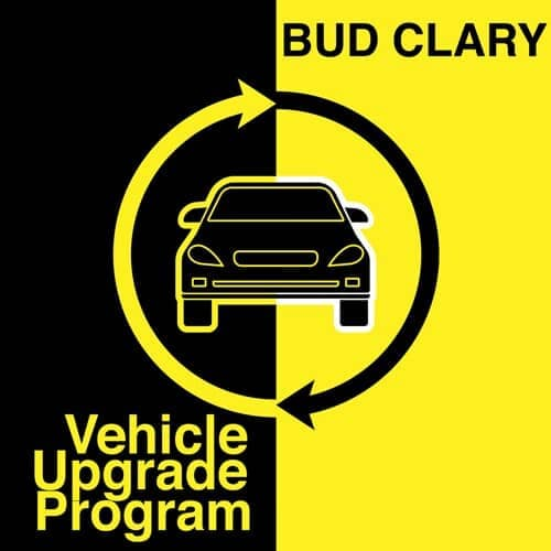 Bud Clary Vehicle Upgrade program banner