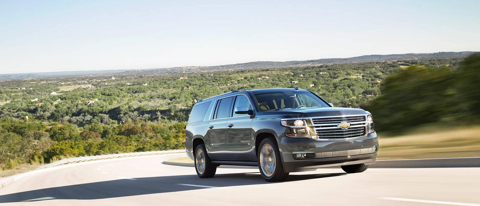 Chevy Tahoe Driving up A hill