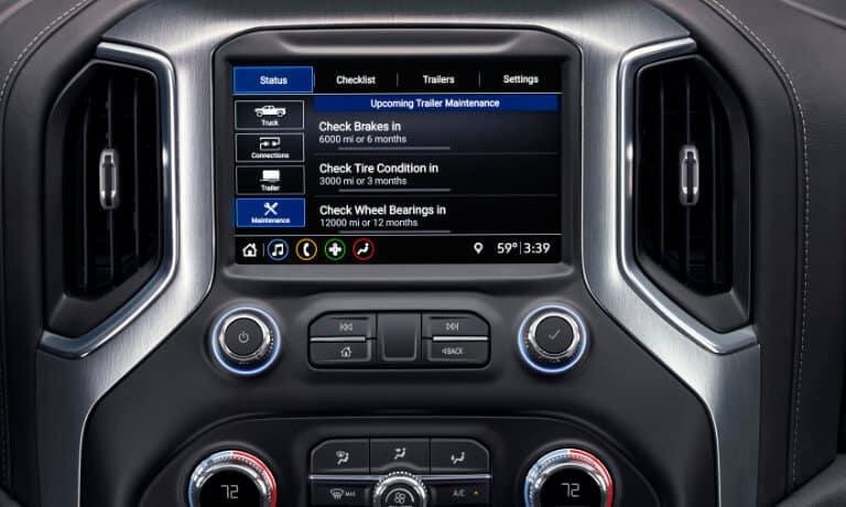 2020 GMC Sierra 1500 interior center console