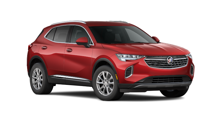 2021 Buick Envision in red exterior transparent background